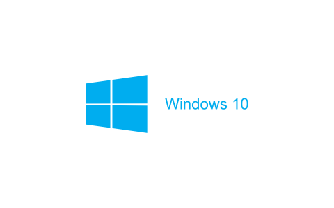 白色的Windows 10壁纸