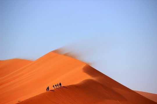 大漠探险拍照图片