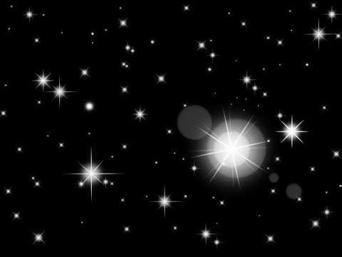 闪亮夜空高清图片