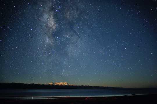 西藏纳木错唯美夜空图片