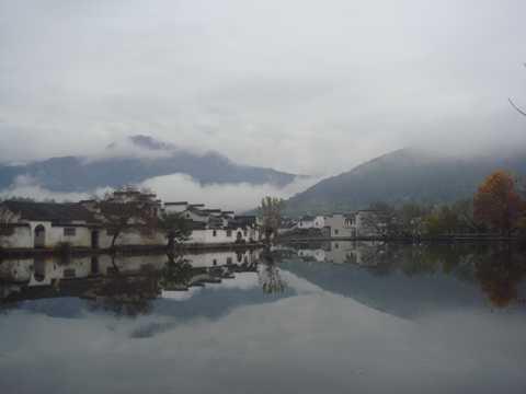 安徽宏村景致图片