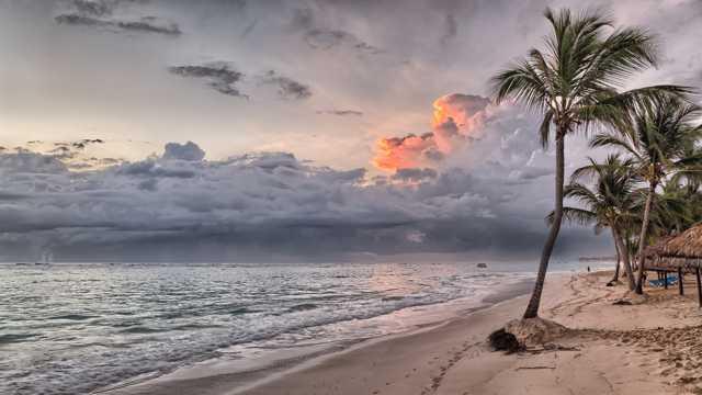 加勒比海景色图片