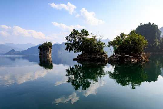 越南三海湖自然风光图片