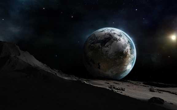 夜空地球景色图片