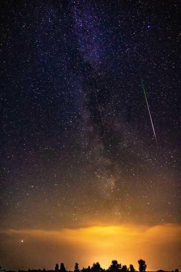 唯美夜空景色图片