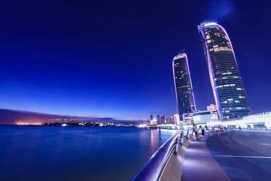 福建厦门双子塔建筑光景图片
