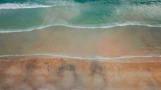 幽静海滨唯美景物图片