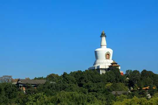 北京北海公园自然风光图片