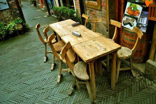 恬静文艺的田子坊街景图片
