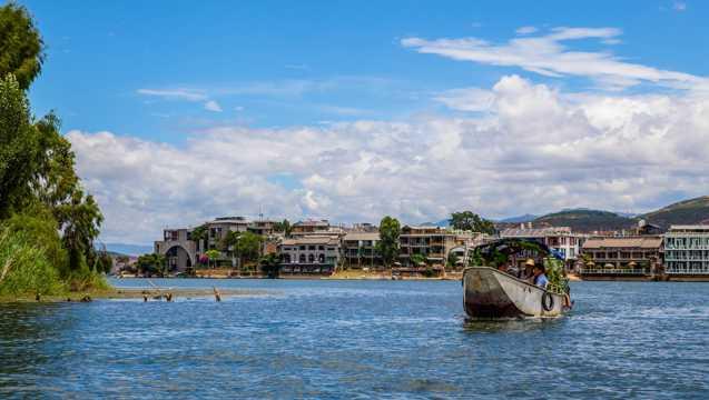云南大理玉几岛自然风光图片