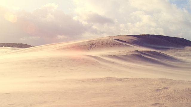 荒凉的大漠风光图片