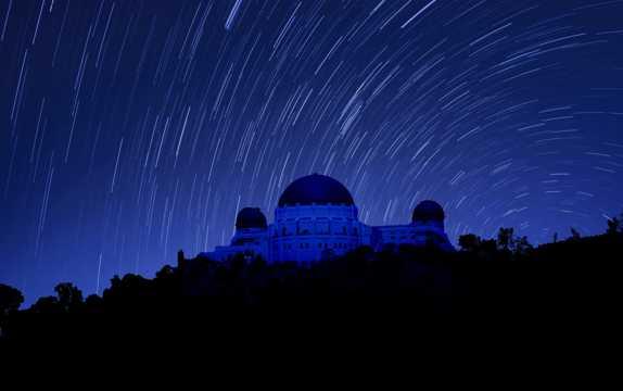 延时拍照夜空图片