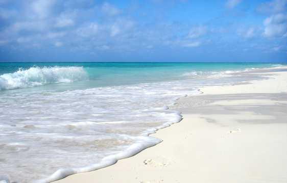 柔软的度假沙滩光景图片