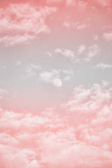 粉色天空朝霞图片